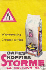 N°2 SECURITE ROUTIERE CAFE STORME CARD MATCHBOX LABEL 60s