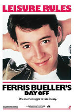 Ferris Bueller's Day off poster 1986 high school skip Chicago New Never Hung!