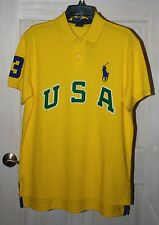 POLO RALPH LAUREN YELLOW CUSTOM FIT USA BIG PONY POLO L NWT