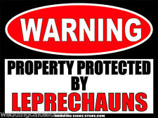 Leprechauns - Funny St. Patrick's Day Warning Sticker Decal St. Patty's WS416
