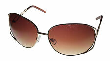 Esprit Sunglass 19239 535 Gold Brown Rectangle Metal, Brown Gradient Lens