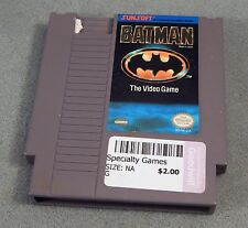 BATMAN THE VIDEO GAME 1990 NES Nintendo PINS CLEANED TESTED WORKS