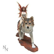 Admina fairy with her companion white wolf NEW  from Nemesis Now - B2113F6