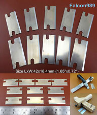 10pcs Leather Craft Draw Gauge Strap Belt Cutter Replacement Blade Tool Set NEW