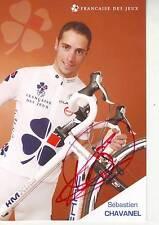 CYCLISME carte cycliste SEBASTIEN CHAVANEL équipe LA FRANCAISE DES JEUX  signée