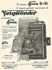 W9926 Voigtlander - Il nuovo BESSA 6 x 9 - Pubblicità del 1931 - Old advertising