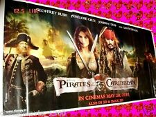 "PIRATES OF THE CARIBBEAN ON STRANGER TIDES 6 SIX SHEET GIANT POSTER 52"" X 106"""