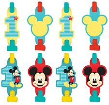 Disney Mickey Mouse 1st Birthday Blowouts 8ct ~Party Favor Supply~