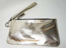 Bobbi Brown WRISTLET Small Cosmetic Clutch Makeup Bag METALLIC GOLD, NEW