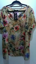 marina kaneva plus ladies flower top with tags size 22/24