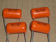 Two (2) Sprague Orange Drop capacitor 715P 0.022uF @ 600V