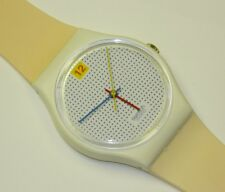 Swatch DOTTED SWISS plastic swiss quartz watch on time with new plastic strap