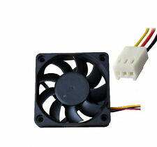 Caso 3 PIN 12v Raffreddamento Computer PC Ventola 60x60x15mm Cooler Nero C-UK Venditore