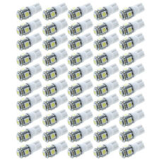50Pcs Super White T10 Wedge 5 SMD 5050 LED Light bulb W5W 2825 158 192 168 194