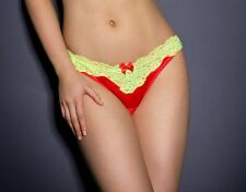 AGENT PROVOCATEUR BACK NOVAH BRIEF RED YELLOW SIZE MEDIUM / AP 3 / 10-12 RRP £95
