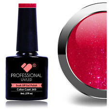 * 349 * vb ® línea Rojo Brillo Rosa UV/LED Soak Off Nail Polish Gel de Color