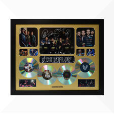 Coldplay Signed & Framed Memorabilia - 4 CD - Gold - Limited Edition