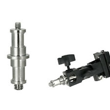 """1PC Durable 1/4"""" and 3/8"""" Spigot Stud Male Screw Adapter Threaded to Light Stand"""