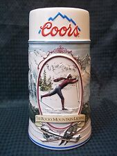 "1991 Coors 7"" Tall ROCKY MOUNTAIN LEGEND SERIES Tankard Stein"