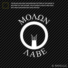(2x) Molon Labe Iron Sights AR-15 M4 M-16 Sticker Die