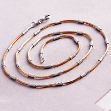 Rose Gold Filled Womens Silver Snake Chain Necklace Free Shipping 18 inch