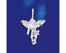 Sterling Silver Guardian Angel Pendant Religious Italian Charm Solid 925 Italy