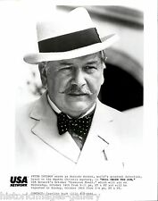 VINTAGE PHOTO MUSTACHE ACTOR PETER USTINOV HERCULE POIROT EVIL UNDER SUN BOW TIE