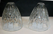 waterford 2 crystal LAMP SHADES / GLOBES /  Pendants **create your own lamp **