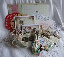 Vintage Shabby Chic Toppers Flowers Charms Doilies Embellishments Card Making