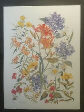 FINE ART LITHOGRAPH: Iris Study By Emma Lou Martin Pencil Signed And Numbered