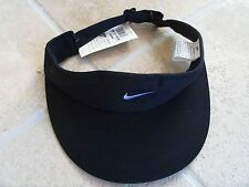 NIKE UNISEX Sun Vizor   with Ajustable Band Black & Black, New 1996-1997