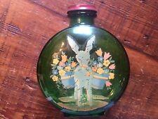 Vintage Emerald Green Glass Sunsweet Prune Juice Bottle.