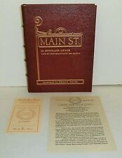 Main Street Easton Press by Sinclair Lewis and Illustrated by Grant Wood.