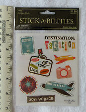 STICKABILITIES The Paper Studio *AIRPLANE TRAVEL* Sticker Pack of 2 Sheets