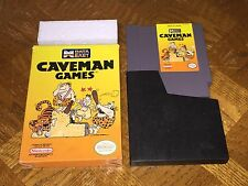 Caveman Games Nintendo Nes w/Box Cleaned & Tested