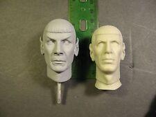 1/6 scale resin replacement head for amt vinyl model kit Star Trek Spock