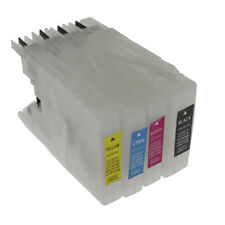 Brother LC1240/LC1280 - 4 x Cartouches Rechargeables non-oem★★★