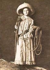 Old West Cowgirl Serpia tone