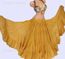 Gold 35 Yd  Skirt Gypsy Tribal Fusion Belly Dance ATS