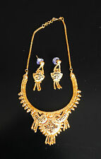 Indian Gold Plated Necklace Earring Set Bollywood Jewellery Ethnic Jewelry