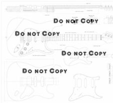 Fender Strat HSS Electric Guitar Plans Actual Size full scale drawing making