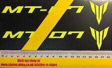 2x Fluro Yellow MT-07 Stickers 180mm Suitable For Yamaha Bikes