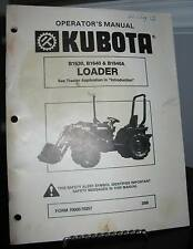 Kubota Loader B1630 B1640 B1640A Operator's Manual SC Fair-Good 42 Pages