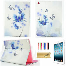 For iPad 2 3 4/mini/air 2 Smart Shell Cover Bling Butterfly Leather Stand Case