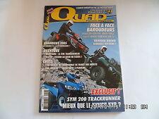 QUAD PASSION MAGAZINE N°59 05/2005 SYM 200 TRACKRUNNER KYMCO KXR    H43