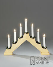 Xmas 40cm X 28cm Static Indoor 7 Light Wooden CANDLE ARCH / CANDLELIER/ bridge