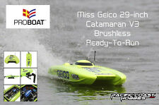 Pro-Boat Miss Geico 29-inch Catamaran V3 Brushless Electric RC Boat RTR PRB08009
