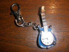 Dakota Yoshi Oshi Blue Glitter Guitar Charm Clip-On Key Ring Purse Watch