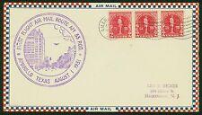 1931 FIRST FLIGHT AIRMAIL ROUTE AM 33 AMARILLO, TX TO HACKENSACK, NJ (ESP#1404)