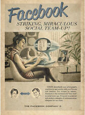 Vintage Facebook Ad, Photo Print 14 x 11""